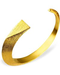 Ona Chan Jewelry - Dagger Cuff Gold - Lyst