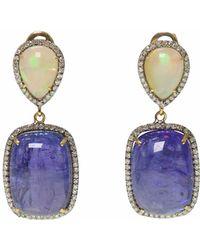 Ri Noor | Opal Tanzanite & Diamond Earrings | Lyst