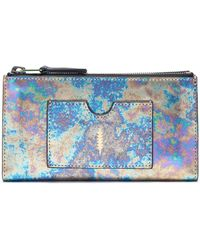 Thacker NYC - Nico Double Zip Wallet Oilslick Iridescent - Lyst