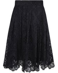 Jelena Bin Drai - Spanish Black Lace Box Pleated Skirt - Lyst