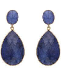 Carousel Jewels - Dyed Sapphire Double Drop Earrings - Lyst