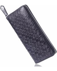 Drew Lennox - Luxury English Leather Ladies 12 Card Zip Around Purse & Wallet In Verglas Black - Lyst