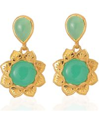Emma Chapman Jewels - Isa Chrysoprase Earrings - Lyst