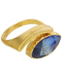 Ottoman Hands - Labradorite Evil Eye Adjustable Ring - Lyst