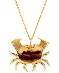 Origami Jewellery - Crab Necklace Gold - Lyst