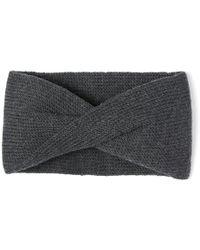 Alma Knitwear - Tula Merino Earwarmer Dark Grey - Lyst
