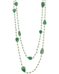 Carousel Jewels - Green Onyx Leaves Necklace - Lyst