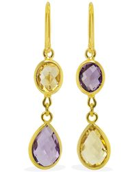 Vintouch Italy - Capri Multicolour Gold Earrings - Lyst