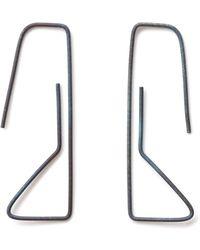 Elsa - Geoneo Titanium Paperclip Earrings - Lyst