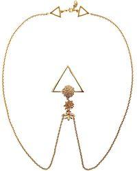 Glenda López - The Golden Flowers Clip Necklace - Lyst
