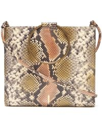 Thacker NYC - Le Pouch In Taupe Python - Lyst