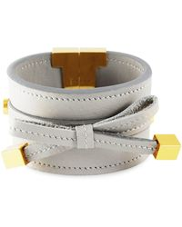 Tissuville - Bow & Cube Silver Grey Bracelet Gold - Lyst