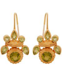 Carousel Jewels - Intricate Peridot Heritage Earrings - Lyst