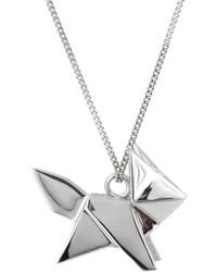 Origami Jewellery - Fox Necklace Silver - Lyst