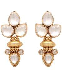 Carousel Jewels - Elegant Multi Crystal Gold Earrings - Lyst
