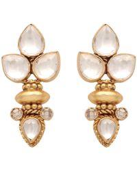 Carousel Jewels - Elegant Multi Crystal Gold Earrings - Lyst