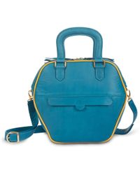 NINE TO FIVE - Mini Bag Eisbach Blue Gold - Lyst