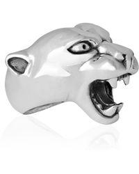 Strange Fruit - Panther Ring Silver - Lyst