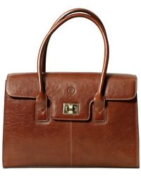Maxwell Scott Bags - Ladies Chestnut Tan Leather Laptop Bag The Fabia - Lyst