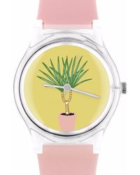 May28th | 05:49pm Light Pink Watch With Plants | Lyst