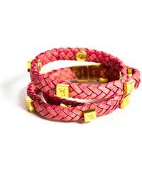 Tissuville - Brio Bracelet Raspberry Gold - Lyst