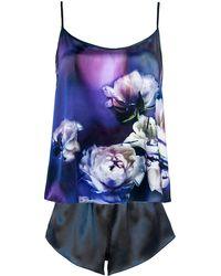 StephieAnn - Purple Silk Pyjama Set - Lyst