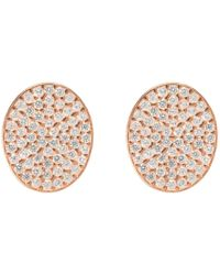 LÁTELITA London - Oval Disc Rosegold Pave Earring - Lyst