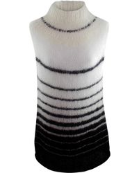Claire Andrew - Monochrome Stripe Knit Top - Lyst