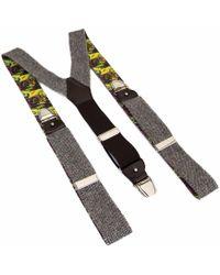40 Colori - Grey Zigzag Wool Braces - Lyst