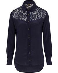 Sophie Cameron Davies   Midnight Blue Classic Silk Shirt   Lyst