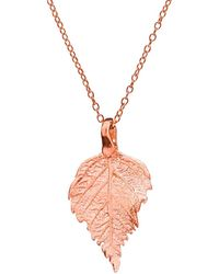 Chupi - The Sweetest Thing Tiny Raspberry Leaf Necklace Rose Gold - Lyst