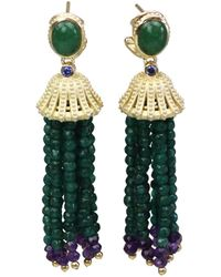 Bellus Domina - Amare Aventurine Earrings - Lyst