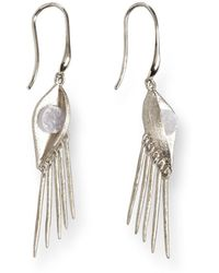 Ona Chan Jewelry - Buddha Eye Earring With Druzy Silver - Lyst