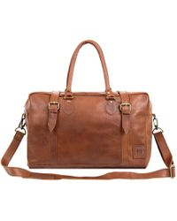 MAHI - The Eckhart Leather Holdall In Vintage Brown - Lyst