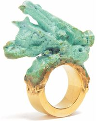 Loveness Lee - Frondescence Chunky Turquoise & Gold Statement Ring - Lyst