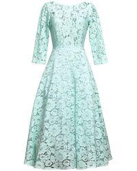 MATSOUR'I - Lace Dress Vicktoria Mint - Lyst