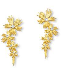 Elham & Issa Jewellery - Evolution Gold Earrings Long - Lyst