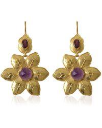 Emma Chapman Jewels - Fleur Amethyst Tourmaline Statement Earrings - Lyst