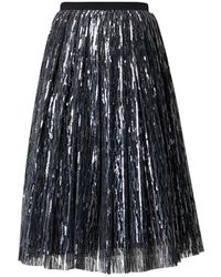 Rumour London - Fairy Midi Sequined Skirt In Silver - Lyst
