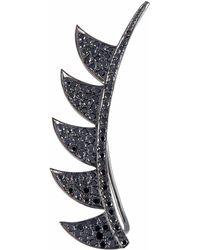 Meghna Jewels - Claw Ear Climber Black Diamonds - Lyst