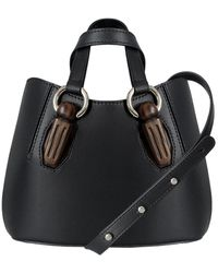 AEVHA - Mini Garnet Tote In Black With Wooden Hardware - Lyst
