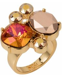 Nadia Minkoff - The Kate Cocktail Ring Gold Magma - Lyst