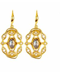 Neola - Norresa Gold Earrings With Labradorite - Lyst