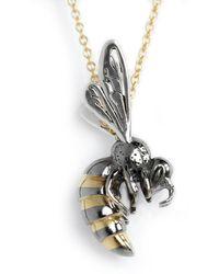HJÄLTE JEWELLERY - Gold Honey Bee Necklace - Lyst