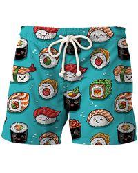 Aloha From Deer Sushi Shorts - Blue