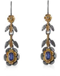 Emma Chapman Jewels - Lily Kyanite Diamond Earrings - Lyst