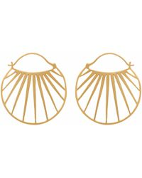 Carousel Jewels - Gold Sunbeam Hoops - Lyst