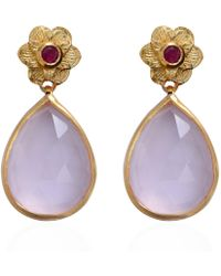 Emma Chapman Jewels - Adila Rose Quartz Earrings - Lyst
