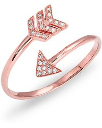 Anne Sisteron - Rose Gold Diamond Mini Arrow Wrap Ring - Lyst