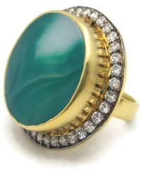 Meghna Jewels - Green Druzy Ring - Lyst